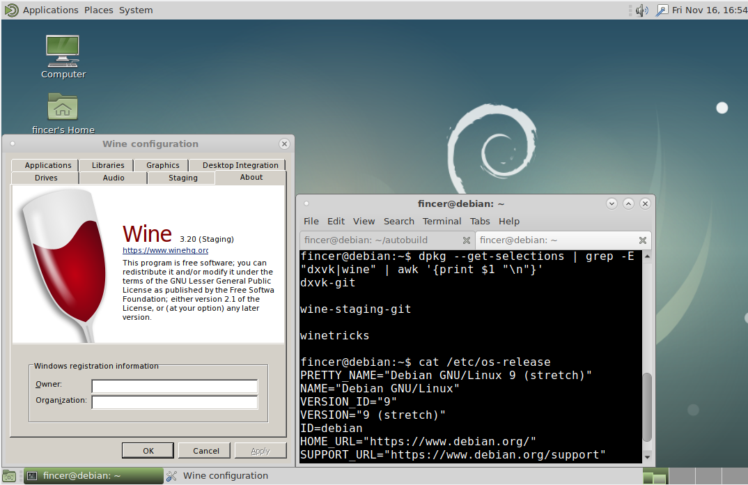 install wine staging arch
