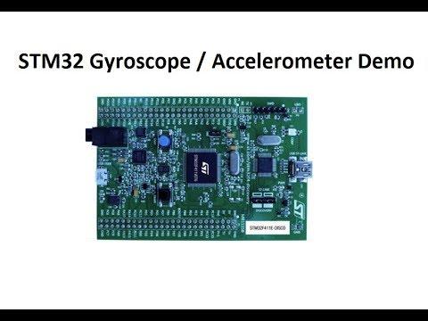 STM32 Gyroscope and Accelerometer Demonstration
