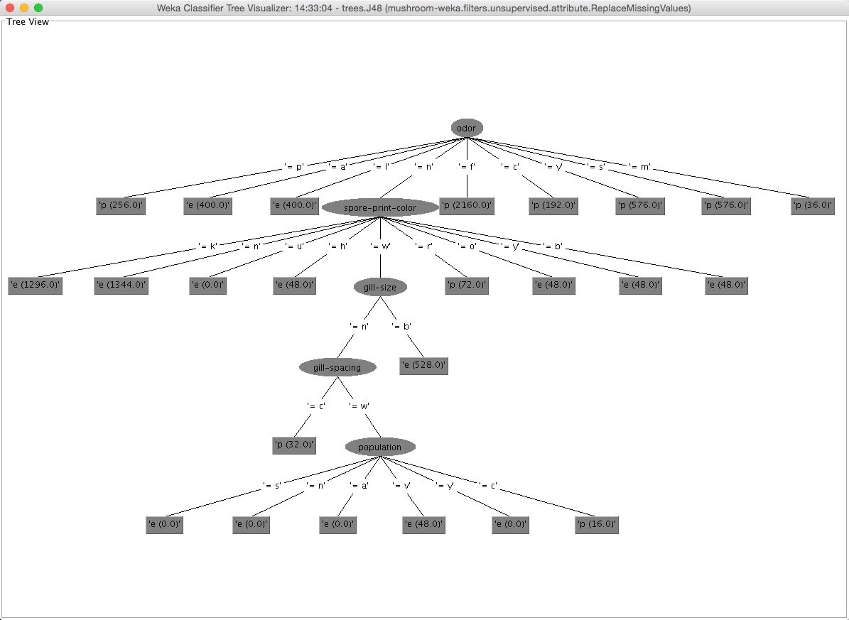 Decision tree visualization