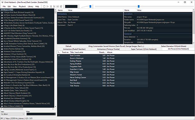 Foobar2000 default layout
