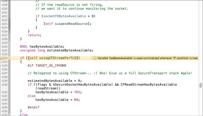 Xcode Warning Variable Hasbyteavailable Is Used Uninitialized