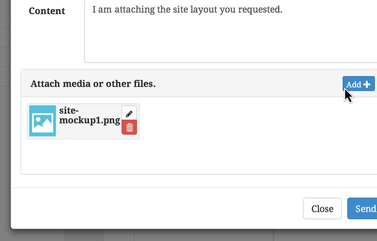 Private Messaging attachments makes it easy to share files.