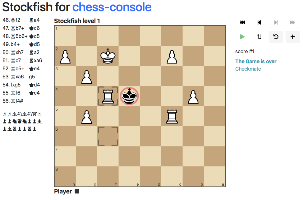 Example chess-console