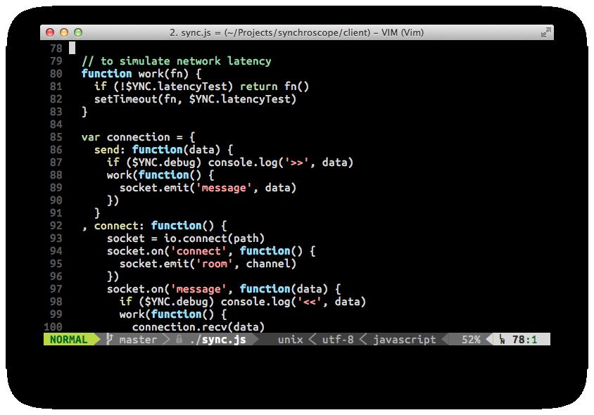 JavaScript Editing Screenshot