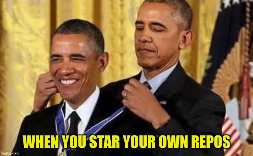 Star your own repo
