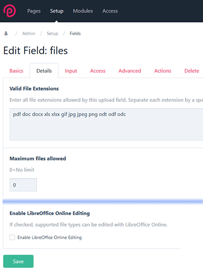 Screenshot of enabling LoolEditor