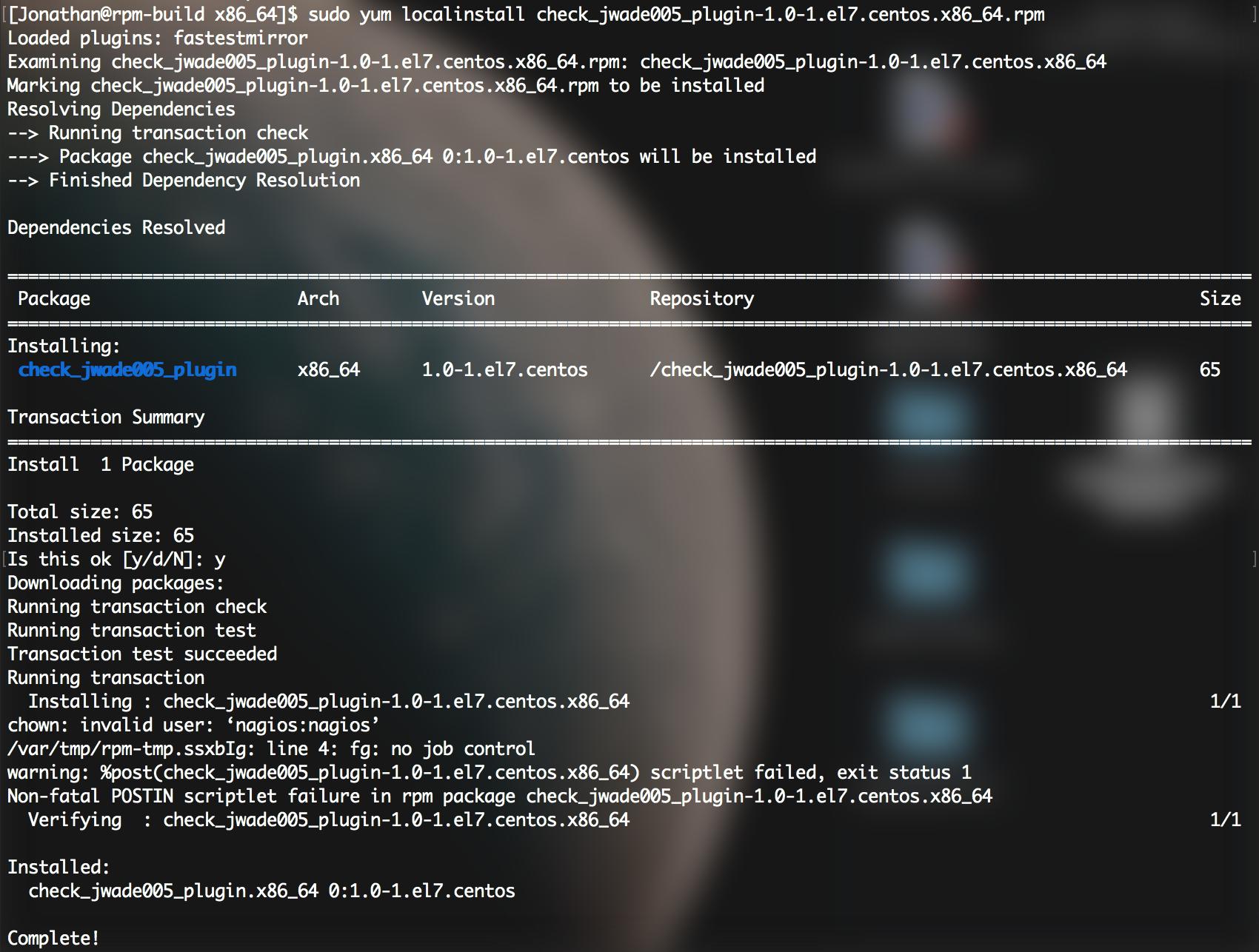 Build RPM Server for Centos 7 · jwade005/NTI-320 Wiki · GitHub