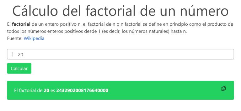 Calcular factorial de un número con JavaScript y WebWorkers