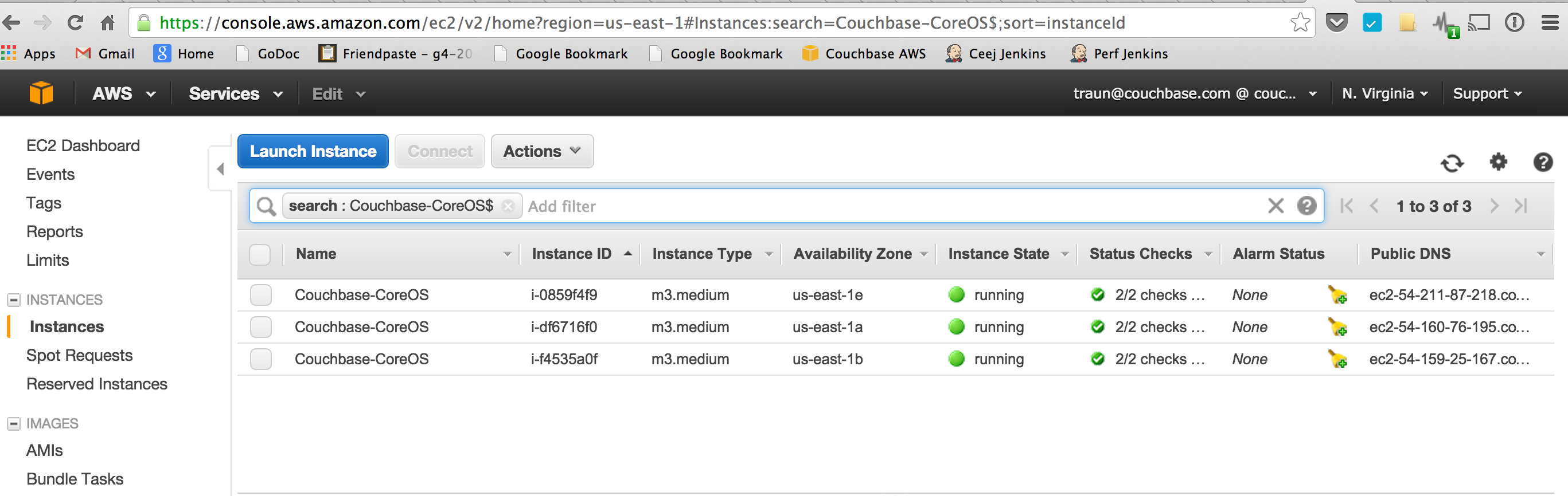 how to tell if couchbase is running