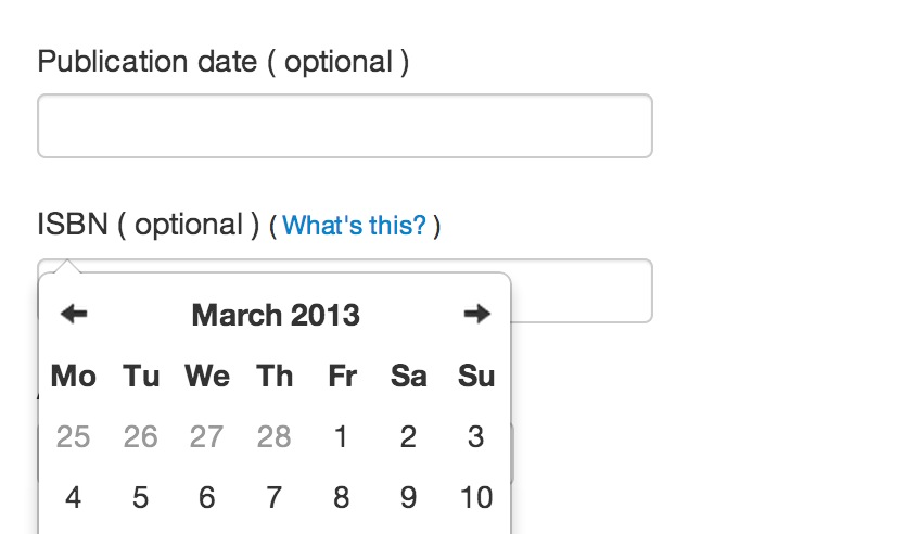 The datepicker calender position bug · Issue #410 · uxsolutions