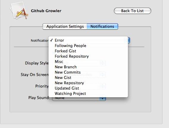 Github Growler Preferences