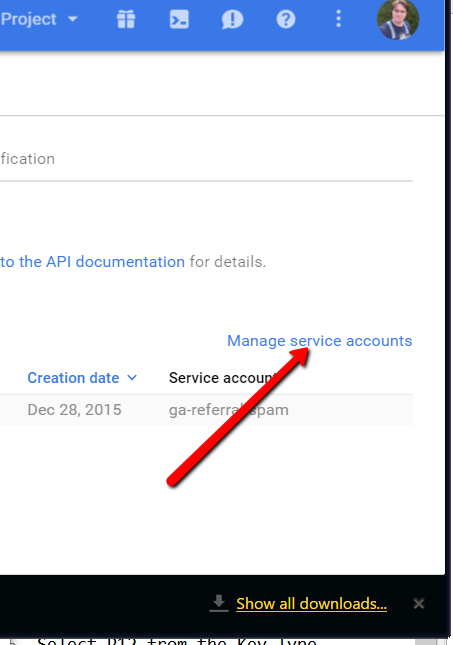 Manage Service Accounts