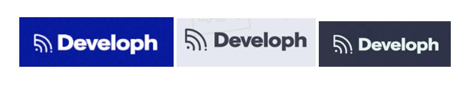 Appropriate Developh logo usage samples