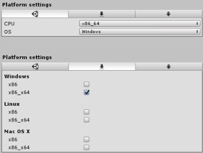 Plugin settings for x86_64 DLLs