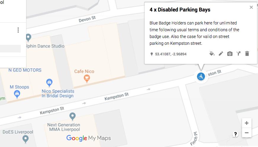 Blue Badge Parking on Kempston Street