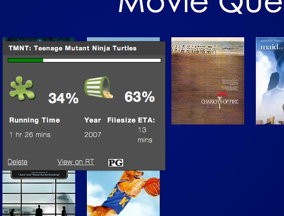 MovieQueue - Info Tooltip