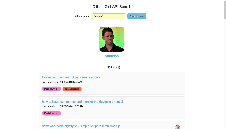 GitHub - jamesdsmyth/github-user-gist-API-search: GitHub user Gist