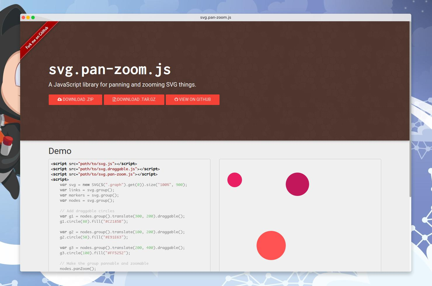 GitHub - jillix/svg pan-zoom js: A JavaScript library for panning