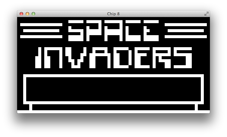 Menu - space invaders