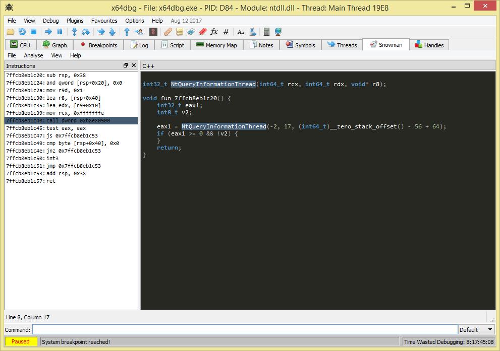 GitHub - x64dbg/snowman: Snowman Decompiler for x64dbg