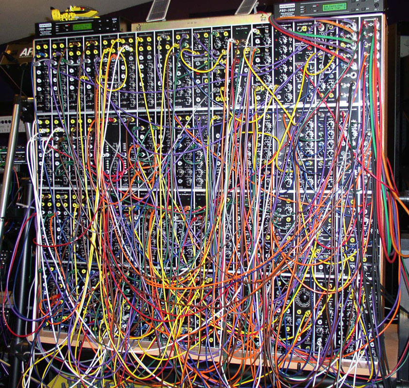 Example of complex modular synthesizer patch
