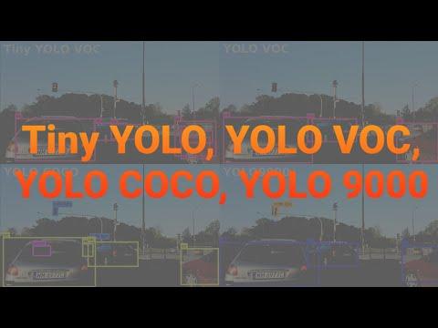 8K 4x YOLO (Tiny YOLO, VOC, COCO, YOLO9000) Object Detection #1