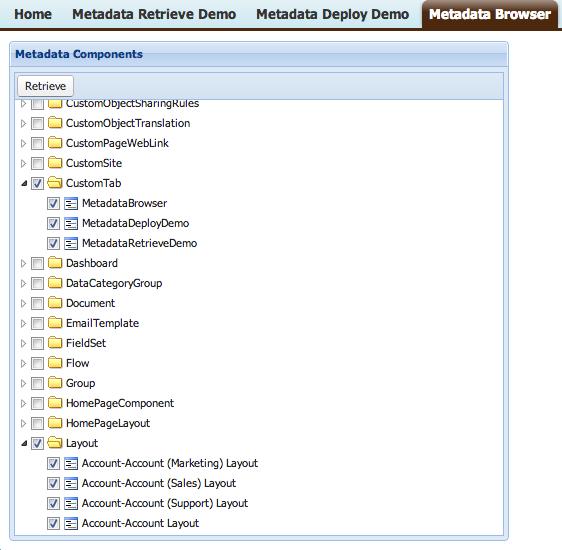Metadata Browse Demo Screenshot