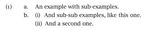 Sub- and sub-sub examples