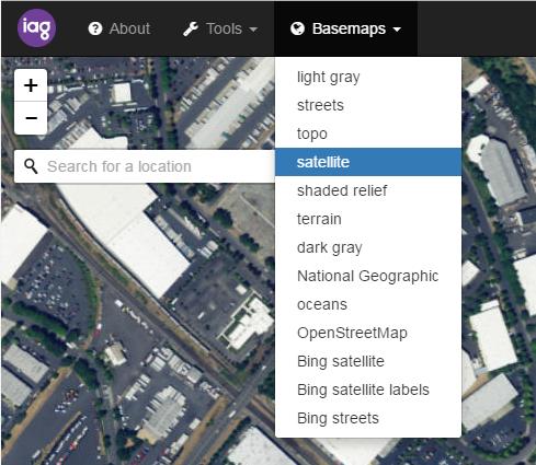 basemaps screenshot