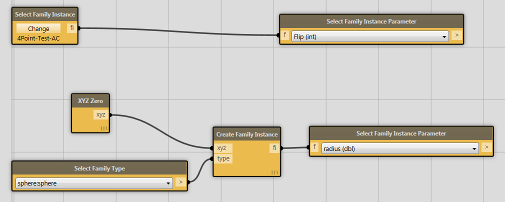 Select Family Instance Parameter node doesn't connect to Select