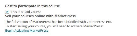 CoursePress Pro - Activate MarketPress