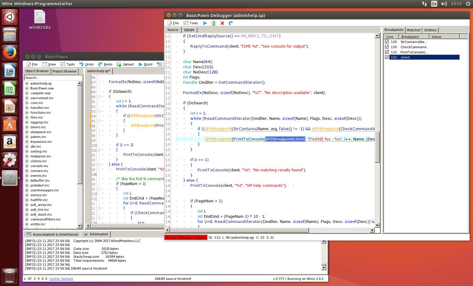 BasicPawn on Linux Ubuntu