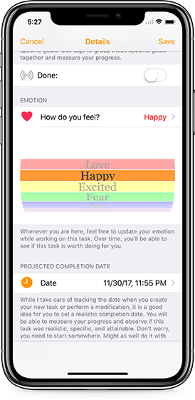 Emotion tracker