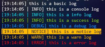The default log levels