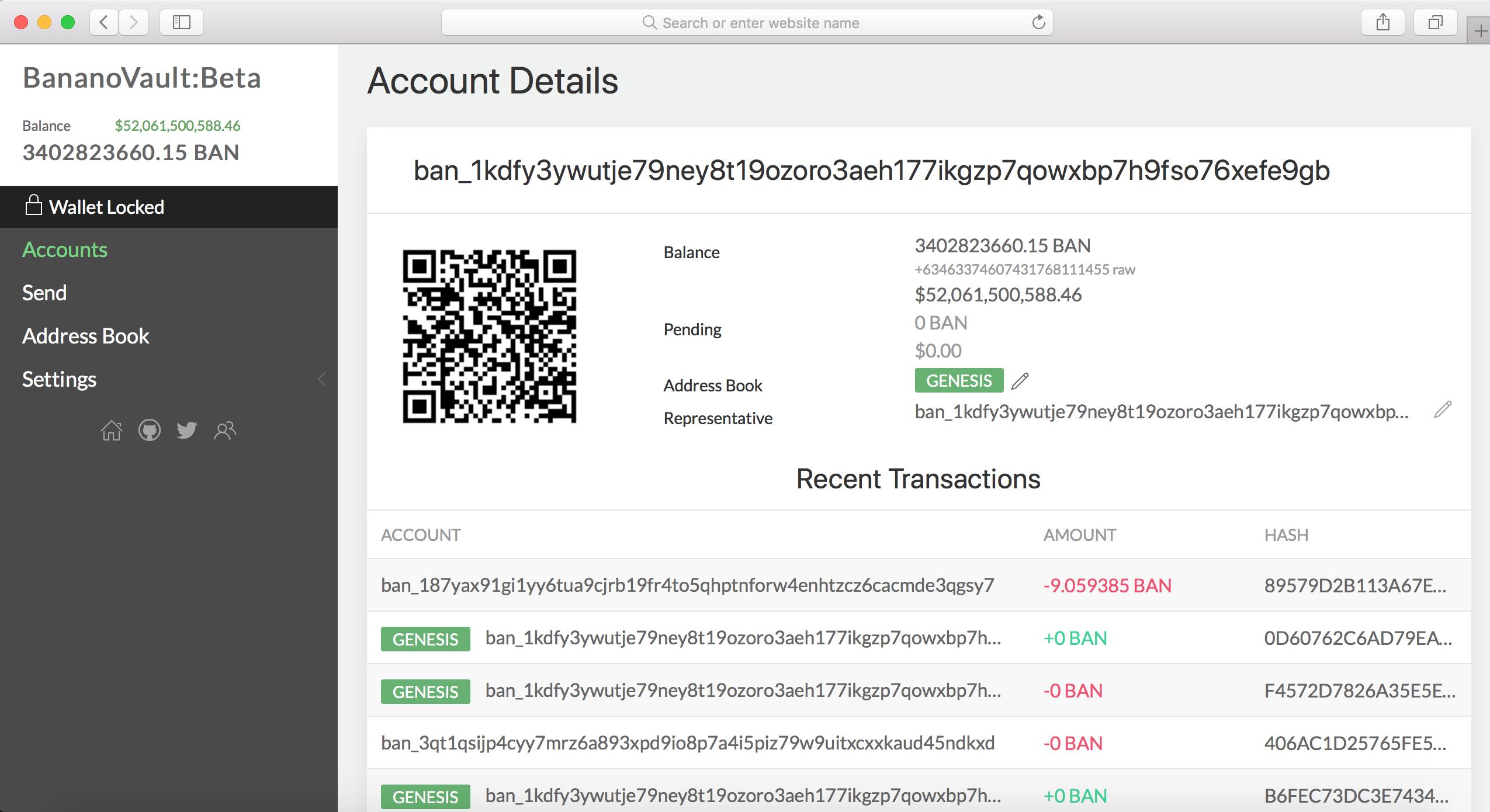 BananoVault Screenshot