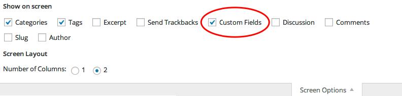 Custom Field Enable