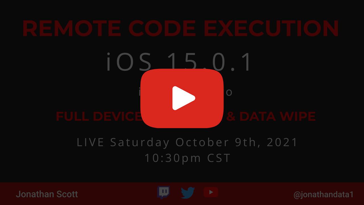 iOS 15.0.1 RCE V1