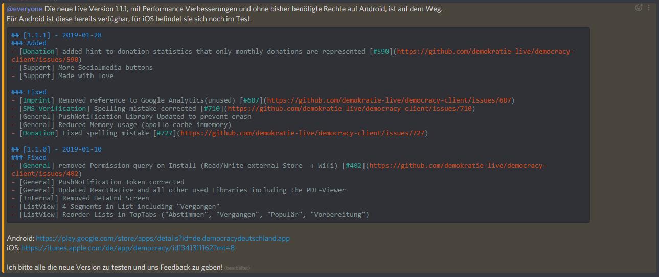 Bug] Markdown parsing has Problems in Discord Codeblocks