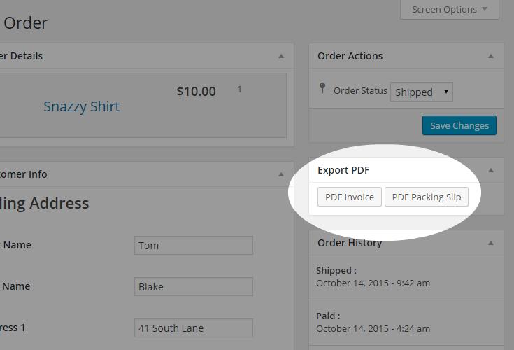 MarketPress - Invoice Addon - Export