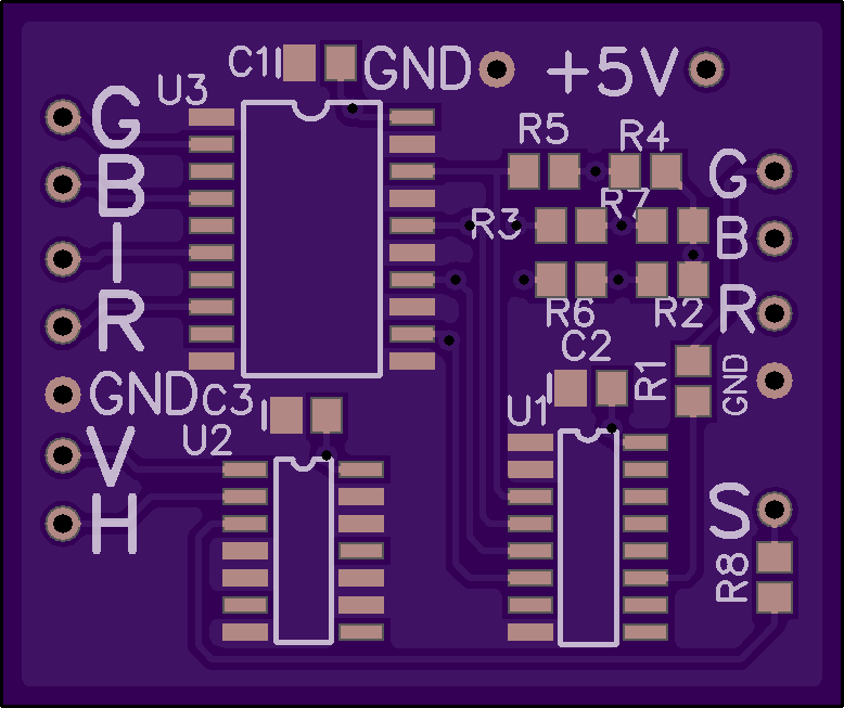 GitHub - MattisLind/CGA-RGBI-to-Analog-RGB