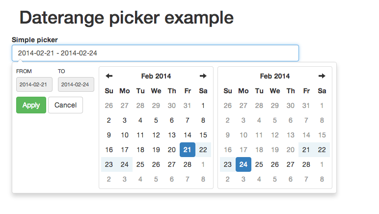 Date Range Picker screenshot