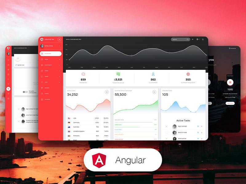 Now UI Dashboard PRO Angular
