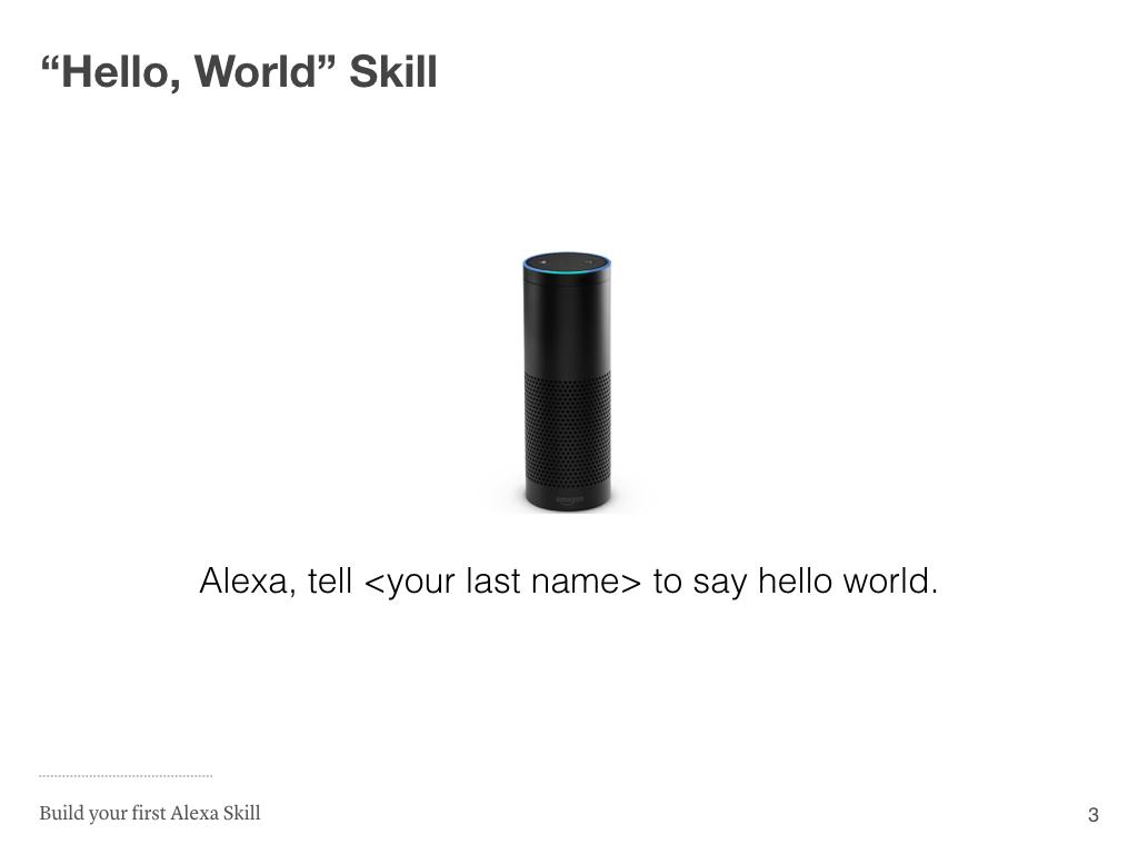 Hello World Skill