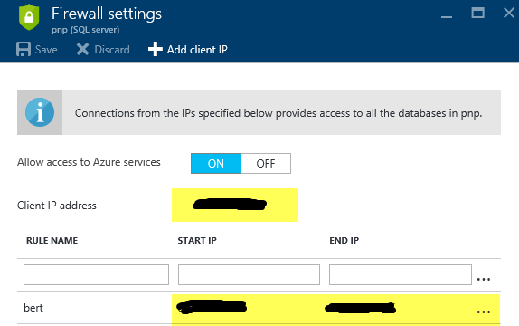 Configure firewall settings