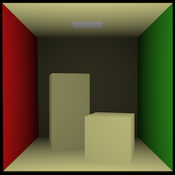 Cornell box rendered by our simple raycaster