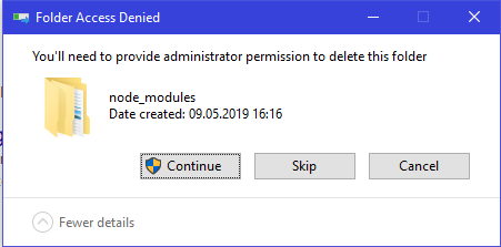 node_modules/@types cannot be deleted on Windows · Issue #29407