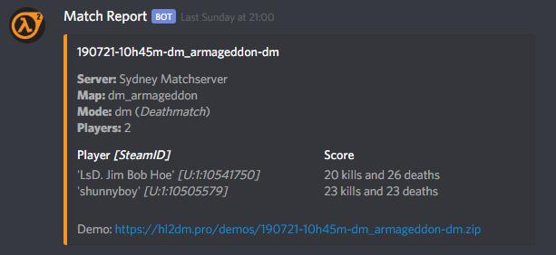 Discord Match Report