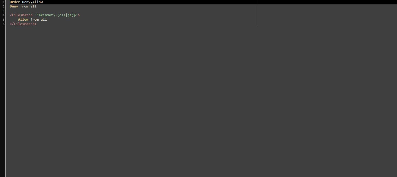 htaccess file example
