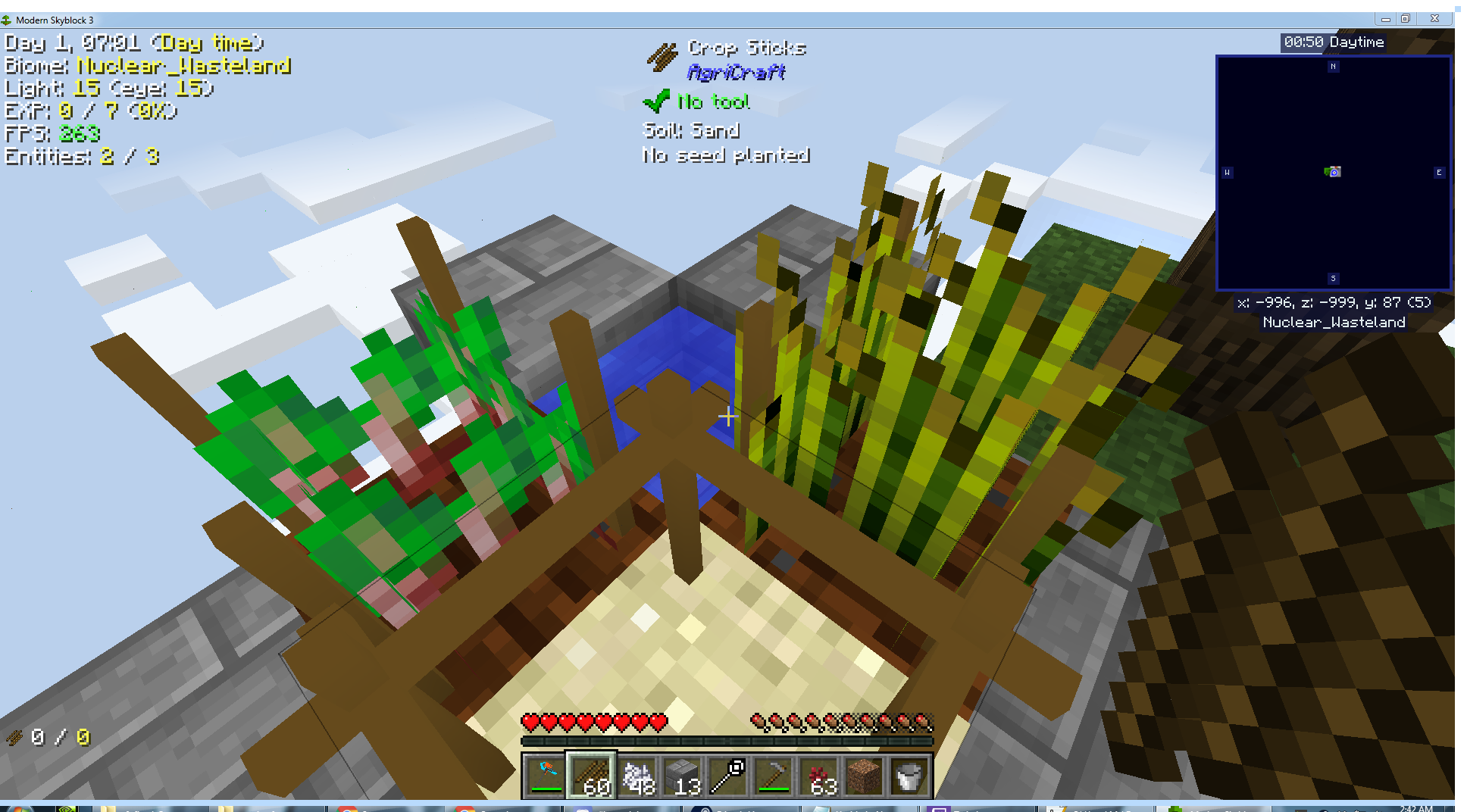 Cant place cross sticks for mutating seeds in Departed · Issue #1175