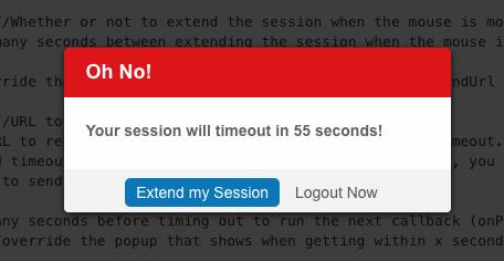 GitHub - HTMLGuyLLC/jTimeout: jQuery session timeout handler